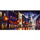 Au loin la mer, de l'artiste Jean-Simon Bégin, Tableau, Huile sur toile, Création unique, dimension 30 x 60 pouces de largeur