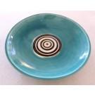 Bol assiette, aqua, # 32 moyenne,de l'artiste Créations Ratté, medium : céramique, objet utilitaire cuit à très haute température, résistant au four, au micro-onde et au lave-vaisselle, vue A
