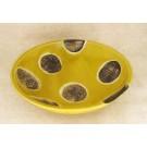 Bol assiette, verte, # 4, petite, de l'artiste Créations Ratté, medium : céramique, objet utilitaire cuit à très haute température, résistant au four, au micro-onde et au lave-vaisselle