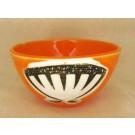 Bol, clémentine, # 25, de l'artiste Créations Ratté, medium : céramique, objet utilitaire cuit à très haute température, résistant au four, au micro-onde et au lave-vaisselle