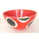 Bol, rouge, # 22, de l'artiste Créations Ratté, medium : céramique, objet utilitaire cuit à très haute température, résistant au four, au micro-onde et au lave-vaisselle