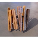 Bracelet, no 2, de l'artiste Le Forestier, Bijou fait de bois mixte, Fermeture aimantée