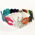 Bracelet Algue 1 rang (multi), no 40, Molusk, Longueur 7 pouces, Bijou aquatique souple et léger fait de PVC coloré qui épouse la forme du corps à la manière d'un tatouage, vue 1