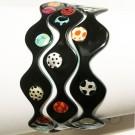 Bracelet Cellules remplies (noir, multi), no 41, Molusk, Longueur 6.75 pouces, Bijou aquatique souple et léger fait de PVC coloré qui épouse la forme du corps à la manière d'un tatouage