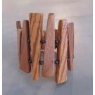 Bracelet, no 12, de l'artiste Le Forestier, Bijou fait de bois mixte, Fermeture aimantée