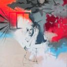 Carte de souhaits 5x5, Réflexion inflammable, de l'artiste Marie Chantal Le Breton, dimension : 5 x 5 pouces largeur, sans texte, avec enveloppe  Vous pouvez inscrire votre message à l'intérieur.  Carte vendue à l'unité