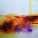 Carte de souhaits 5x5, Chérir l'immatériel, de l'artiste Sophie Ouellet, dimension : 5 x 5 pouces largeur, sans texte, avec enveloppe, Vous pouvez inscrire votre message à l'intérieur, Carte vendue à l'unité