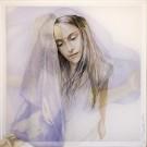 Chimère, de l'artiste Marie-Pierre Lortie, Oeuvre sur soie, encre, double voile sur cadre, Création unique,dimension 35 x 35 pouces de largeur
