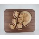 Mouches à feu, de l'artiste Claudia Côté, Sculpture, bois noyer, plywood, cèdre aromatique, pin, Création unique, dimension : 7.5 x 10 po