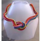 Collier MÉLI MÉLO, no 33, de l'artiste Sandrine Giraud, Ce bijou modulable, toujours original, marie avec élégance la grâce des perles avec l'originalité des lignes résolument contemporaines.