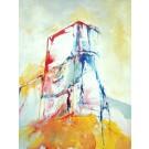 Condominium plastique, de l'artiste Benoit Genest Rouillier, Tableau, Acrylique sur toile, Création unique, dimension : 48 x 36 po de largeur