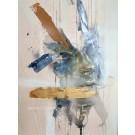 Diffuse, de l'artiste Sandy Cunningham, Tableau, Techniques mixtes sur bois, Création unique, dimension : 30 x 22 po de largeur