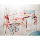 Emprunt délicieux, de l'artiste Benoit Genest Rouillier, Tableau, Acrylique sur toile, Création unique, dimension : 48 x 60 po de largeur