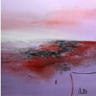 Faire le vide, de l'artiste Sophie Ouellet, Tableau, acrylique sur toile cartonnée, Création unique, dimension : 16 x 16 po de largeur