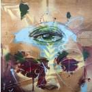 Femme d'intuition, de l'artiste Sandy Cunningham, Tableau, Techniques mixtes sur bois, Création unique, dimension : 12 x 12 po de largeur