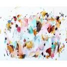 Fragments de lys, de l'artiste Zoé Boivin, Tableau, Médiums mixtes sur toile, Création unique, dimension 24 x 30 pouces de largeur