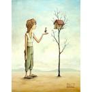 Carte de souhaits 7x5, Home Sweet Home, de l'artiste Félix Girard, dimension : 7 x 5 pouces largeur, sans texte, avec enveloppe, Vous pouvez inscrire votre message à l'intérieur, Carte vendue à l'unité