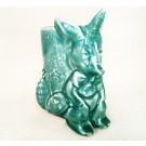 Pinkaroo, # 3, aqua, de l'artiste Créations Ratté, medium : céramique, objet utilitaire décoratif, cuit à très haute température