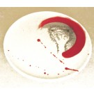 Assiette, no 9, de l'artiste Nancy Lavigueur, Poterie utilitaire semi-porcelaine, dimension : 8 pouces de circonférence, pièce vendue à l'unité