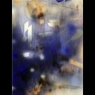 In City and in Forest, no 12, de l'artiste Mélisa Taylor, Tableau, Pyrogravure et aérosol sur bois, Création unique, dimension 48 x 36 pouces de largeur