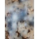 In City and in Forest, no 1, de l'artiste Mélisa Taylor, Tableau, Pyrogravure et aérosol sur bois, Création unique, dimension 48 x 36 pouces de largeur