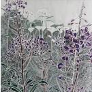Jardins sauvages XXXII (t.encadré), de l'artiste Elyse Turbide, Mixtes sur toile, Dimension : 40 po x 40 po de largeur
