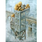 La gare, affiche, de l'artiste Félix Girard, sur papier Hahnemühle Fine Art Photo Rag avec de l'encre à pigment, dimension : 14 x 11 pouces de largeur, affiche prête à être encadrée