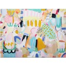 La piscine (série Transparences et liaisons), de l'artiste Zoé Boivin, Tableau, Médiums mixtes sur toile, Création unique, dimension 30 x 40 pouces de largeur