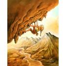 Pente raide, de l'artiste Félix Girard, sur papier Hahnemühle Fine Art Photo Rag avec de l'encre à pigment, dimension : 18 x 14 pouces de largeur, affiche prête à être encadrée