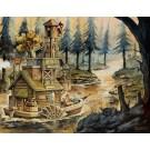 Laurelaine, de l'artiste Félix Girard, sur papier Hahnemühle Fine Art Photo Rag avec de l'encre à pigment, dimension : 14 x 18 pouces de largeur, affiche prête à être encadrée