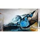 Le sommeil, de l'artiste Marie-Eve Lachance, Tableau, Huile, Création unique, dimension 24 x 42 pouces de largeur