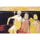 Le métro, de l'artiste Benoit Genest Rouillier, Tableau, Acrylique sur toile, Création unique, dimension : 40 x 60 po de largeur