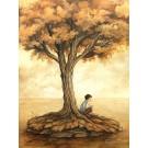 L'écrivain, affiche, de l'artiste Félix Girard, sur papier Hahnemühle Fine Art Photo Rag avec de l'encre à pigment, dimension : 18 x 14 pouces de largeur, affiche prête à être encadrée
