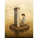 Le pianiste, affiche, de l'artiste Félix Girard, sur papier Hahnemühle Fine Art Photo Rag avec de l'encre à pigment, dimension : 18 x 14 pouces de largeur, affiche prête à être encadrée