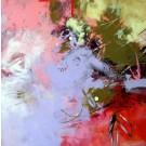 Les embûches de mes envolées, de l'artiste Sophie Ouellet, Tableau, acrylique sur toile, dimension : 30 x 30 pouces de largeur