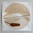 Les jardins nordiques # 15, de l'artiste Vanessa Sylvain, Oeuvre papier, Acrylique sur papier, Création unique, dimension 14 x 14 pouces de largeur, ronde