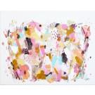 Lutine, de l'artiste Zoé Boivin, Tableau, Médiums mixtes sur toile, Création unique, dimension 14 x 18 pouces de largeur