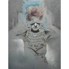 Carte de souhaits 7x5, Marie Stella, de l'artiste Marie Chantal Le Breton, dimension : 6.5x4.75 pouces largeur, sans texte, avec enveloppe  Vous pouvez inscrire votre message à l'intérieur.  Carte vendue à l'unité