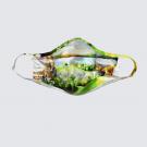 Masque facial lavable, no A Les 4 saisons, modèle 'Ma Côte de Beaupré Ste Anne', Ni Vu Ni Cornu, Art portable, 3 tailles M à XL, Fait au Canada