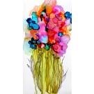 Mieux vaut cultiver les fleurs que la rancune, # 2, diptyque (2 pièces), de l'artiste Nancy Létourneau, Oeuvre sur papier Terraskin, marouflée sur bois galerie, médium encre à l'alcool, dimension  20 po x 10 po de largeur,
