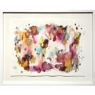 Orangeraie (o.encadrée), de l'artiste Zoé Boivin, Oeuvre sur papier, Médiums mixtes, Création unique, dimension 18 x 24 pouces de largeur