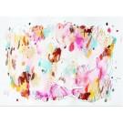Orangeraie, de l'artiste Zoé Boivin, Oeuvre sur papier, Médiums mixtes, Création unique, dimension 18 x 24 pouces de largeur