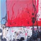 Percussion, de l'artiste Marie-Eve Lachance, Tableau, Huile, Création unique, dimension 8 x 8 pouces de largeur