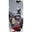 Persistance, de l'artiste Sandy Cunningham, Tableau, Acrylique sur toile, Création unique, dimension : 40 x 18 po de largeur