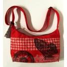 Petit sac 7x10 po, no 9, de l'artiste Cynthia DM, Tissu imperméable Nylon Majestic, doublure intérieure, sérigraphie sur tissu, jeux de coutures décoratives, fermeture éclair YKK (meilleure qualité)