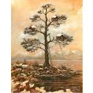 Carte de souhaits 7x5, Première neige, de l'artiste Félix Girard, dimension : 7 x 5 pouces largeur, sans texte, avec enveloppe, Vous pouvez inscrire votre message à l'intérieur, Carte vendue à l'unité