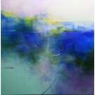Prendre son temps, de l'artiste Sophie Ouellet, Tableau, acrylique sur toile, Création unique, dimension : 24 x 24 po de largeur