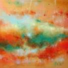 Reconnaissante, de l'artiste Sophie Ouellet, Tableau, acrylique sur toile, Création unique, dimension : 20 x 20 po de largeur
