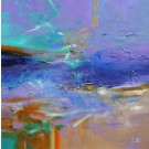 Regarder ma tempête, de l'artiste Sophie Ouellet, Tableau, acrylique sur toile, Création unique, dimension : 30 x 30 po de largeur