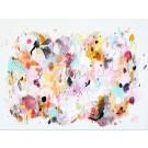 Ribambelle d'été, de l'artiste Zoé Boivin, Tableau, Médiums mixtes sur toile, Création unique, dimension 18 x 24 pouces de largeur